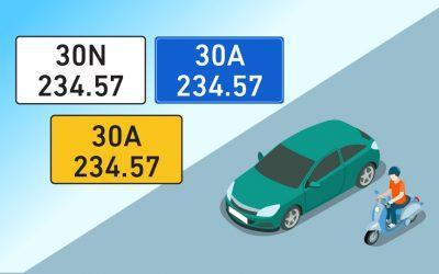 Ký hiệu biển số xe các tỉnh trên cả nước và một số lưu ý