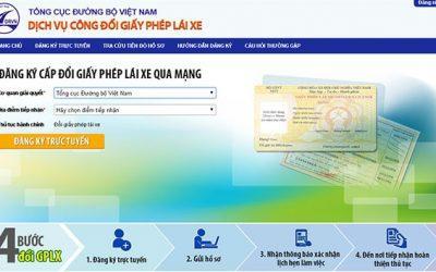 Hướng dẫn chi tiết cách đổi giấy phép lái xe qua mạng mới nhất